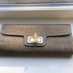 Handbags - Woven clutch with bamboo closure